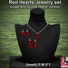 Red Hearts Jewelry set PIC