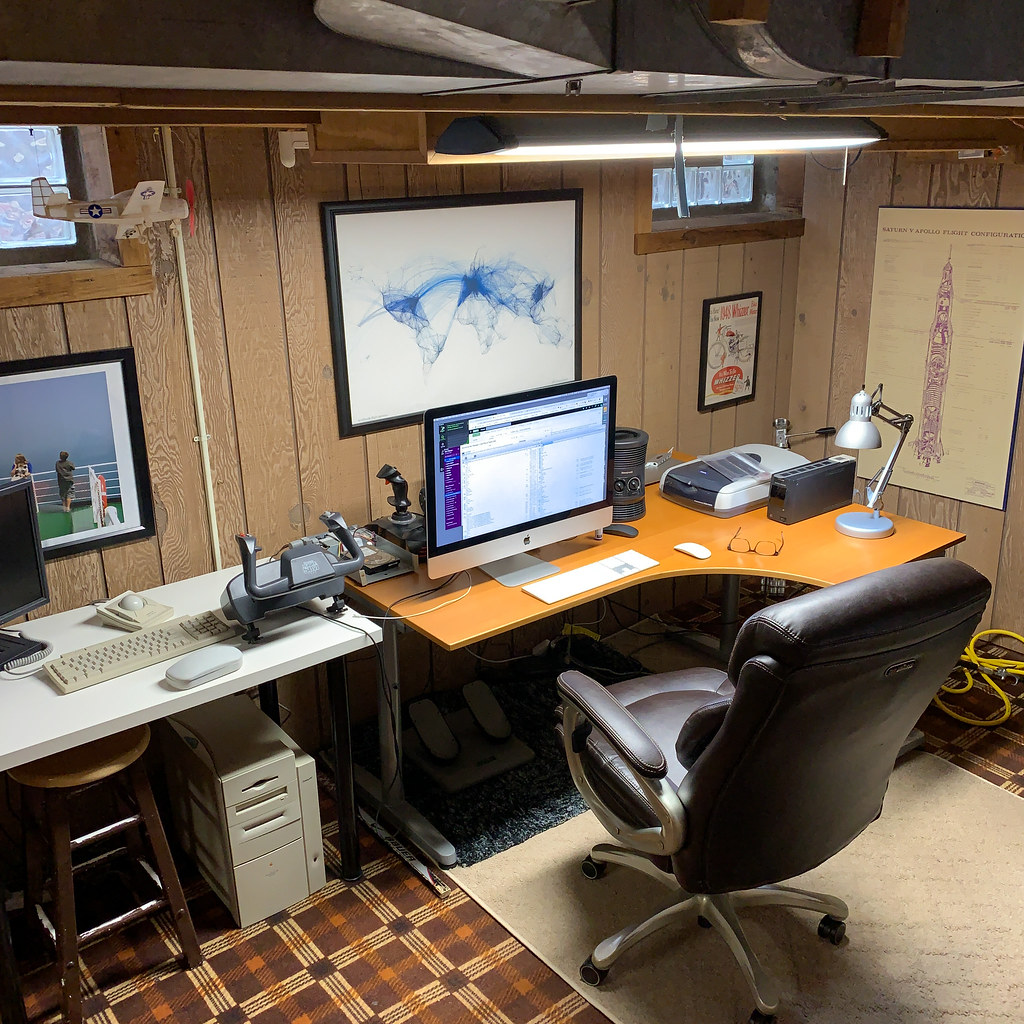 Basement Home Office: The Basement Home Office On The First Day Of