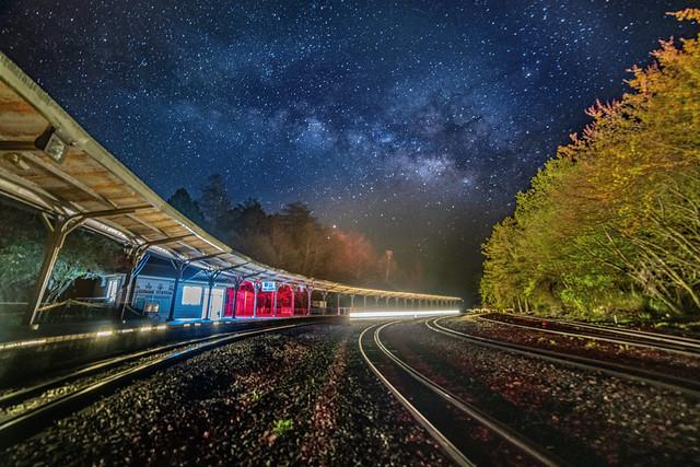 阿里山●祝山車站銀河星空  Milky way at Alishan