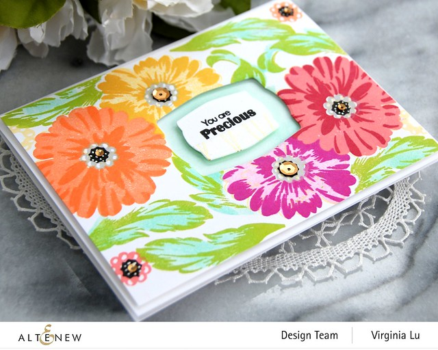 Altenew-PreciousBloom StampSet-Mask-Virginia#2