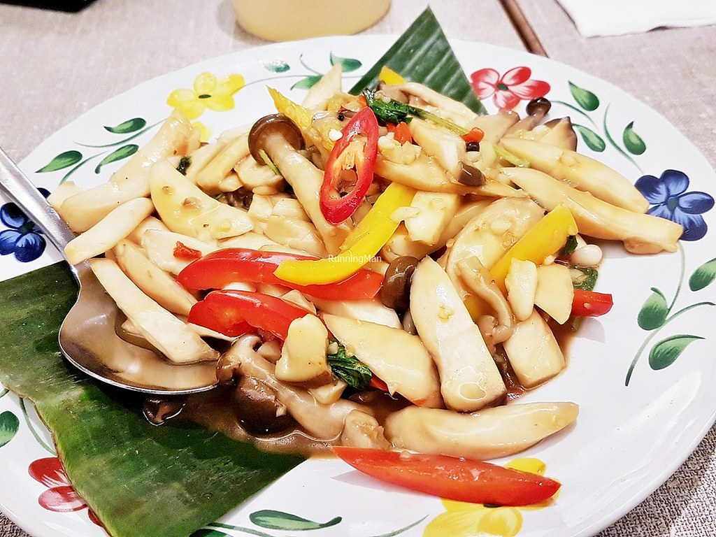 Stir-Fried Trio Mushrooms With Hot Basil