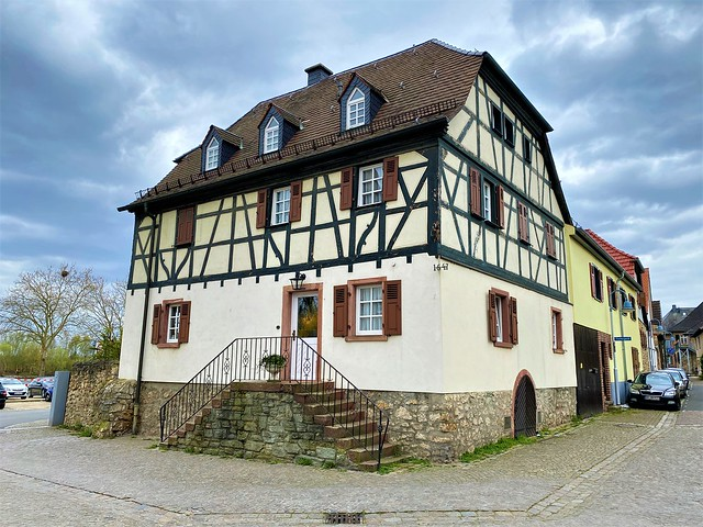Half timbered House since 1647 - Old Town of Floersheim, near Airport Frankfurt, Germany