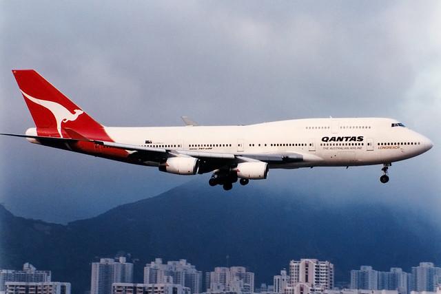 Qantas | Boeing 747-400 | VH-OJC | Hong Kong Kai Tak