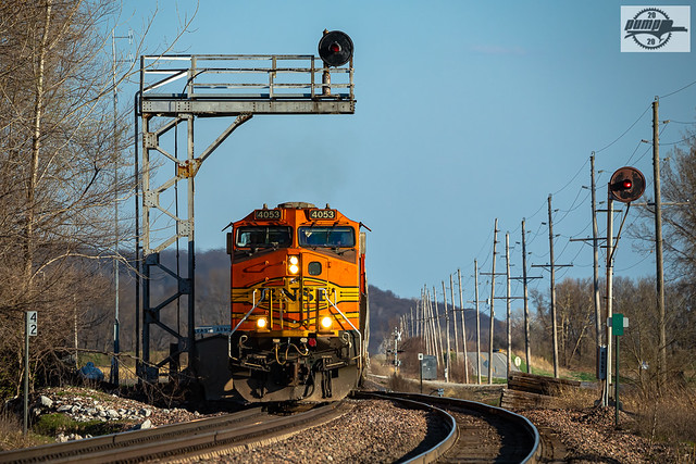 Westbound BNSF High Priority Manifest Train at Armour, MO