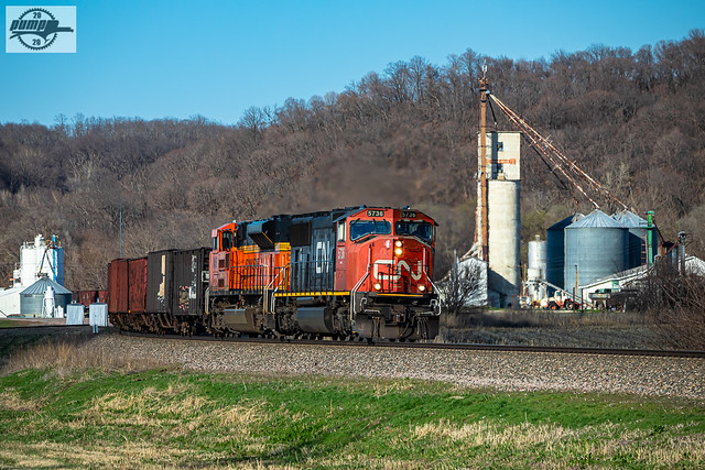 Eastbound BNSF Special Unit Train at Rushville, MO
