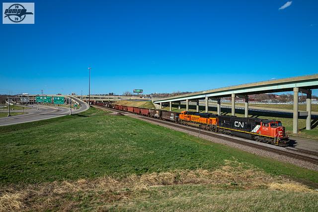 Eastbound BNSF Special Unit Train at St. Joseph, MO
