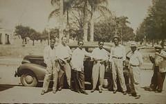 1950 Railroad Station Depot and  Black Men - Ciego de Avila, Cuba