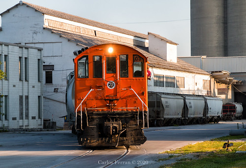 sind southern indiana railroad switcher switch alco s2m s2 cummins urban speed in sunrise summer cement plant locomotive industry street running