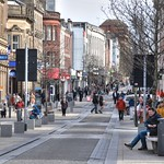 A busy street in Preston