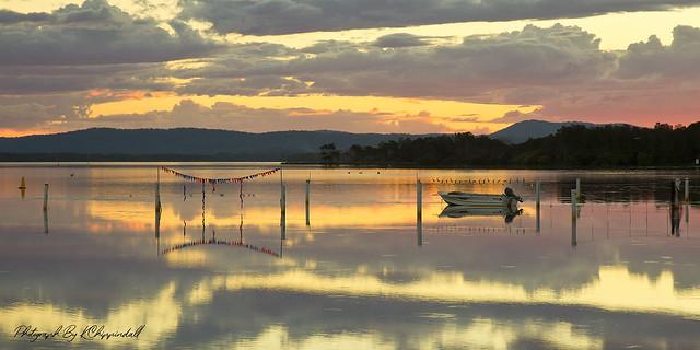 Lake Side Sunset 817 s