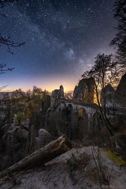 Bastei by Night