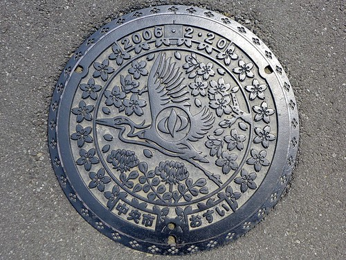 Chuo Yamanashi, manhole cover (山梨県中央市のマンホール)