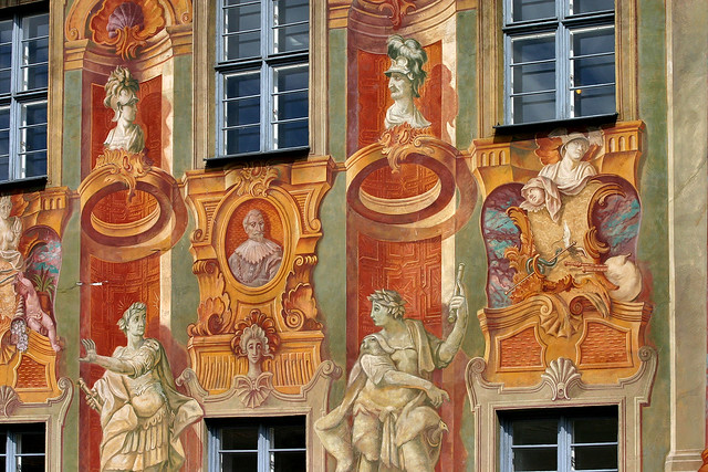 Germany: Bamberg, Old Town Hall frescoes