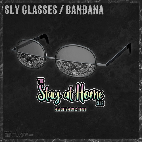 VISUALPHA / sly glasses / bandana / GIFT