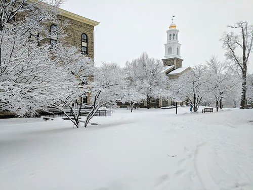 Colgate Memorial Chapel with snow