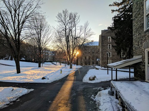 Colgate University Academic Quad in snow