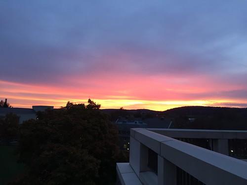 Sunset at Colgate University