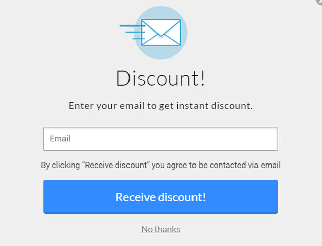 Getting discount through connecting via email