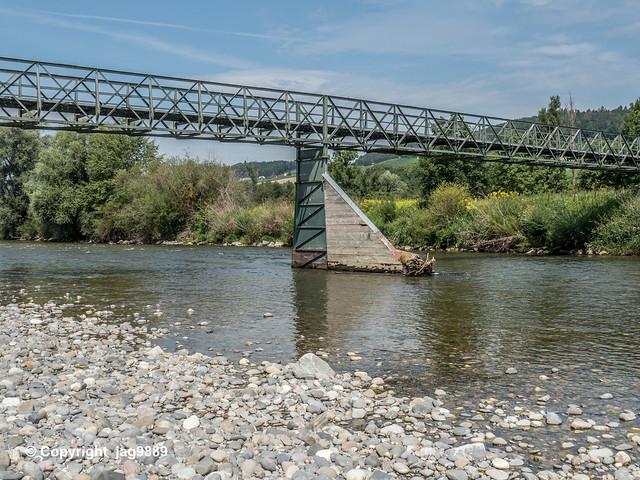 THU745 Feldi Pedestrian Bridge over the Thur River, Uesslingen-Buch, Canton Thurgau – Altikon, Canton Zurich, Switzerland