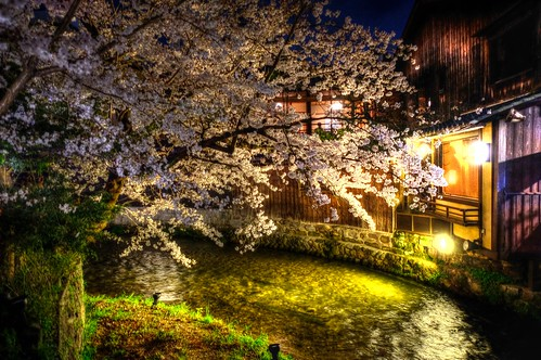 30-03-2020 Kyoto, Gion-Shirakawa in evening (1)