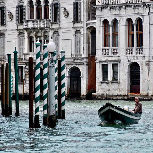 Venise - Sur le Grand Canal.
