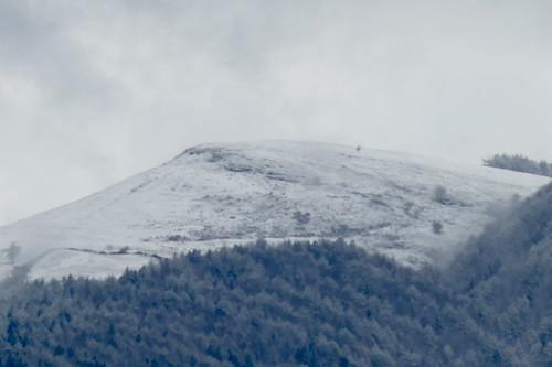 Nieve en los montes de Zarautz 30-3-2020