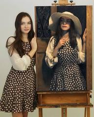 Oil Painting Beautiful Girl