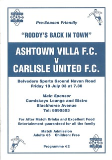 Ashtown Villa V Carlisle United 18-7-2003 | by cumbriangroundhopper