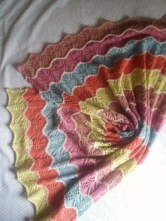 In the meanwhile, this baby (blanket) is done.