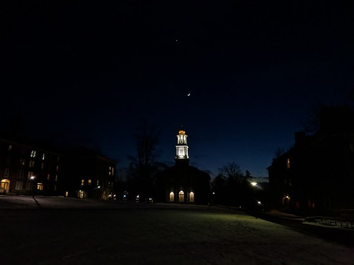 Colgate Memorial Chapel at night