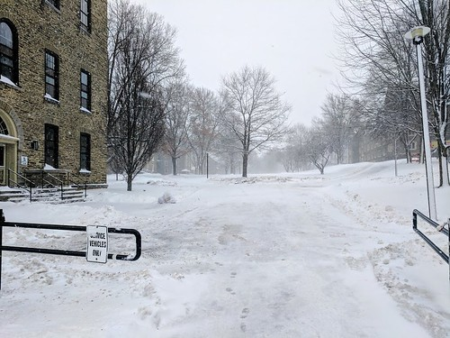 Snowfall at Colgate University
