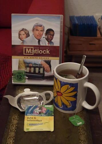 """Bachblüten Tee """"Ruhe & Gelassenheit"""" zur ersten Folge der der US-amerikanische Krimi- und Justizserie """"Matlock"""""""