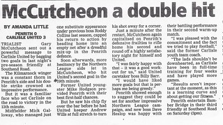 Penrith V Carlisle United 23-7-2002 Match Report | by cumbriangroundhopper