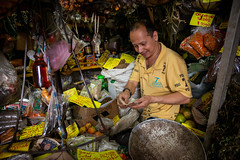 merchant counting his money