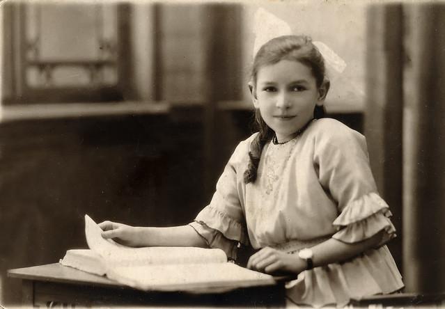 Alwyn Buckle aged 10, taken in 1922, slightly resorted in 2020. What a delightful photograph.