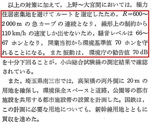 東北新幹線東京大宮間110キロ規制と線形 (22)