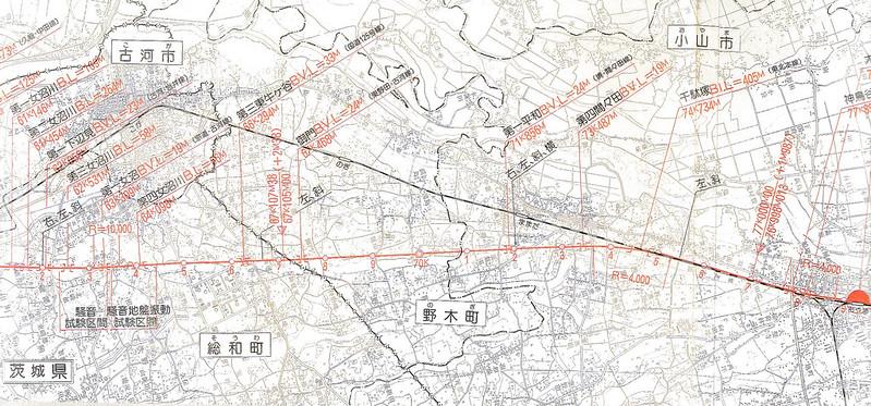 東北新幹線東京大宮間110キロ規制と線形 (17)