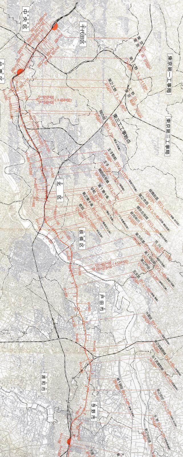 東北新幹線東京大宮間110キロ規制と線形 (9)