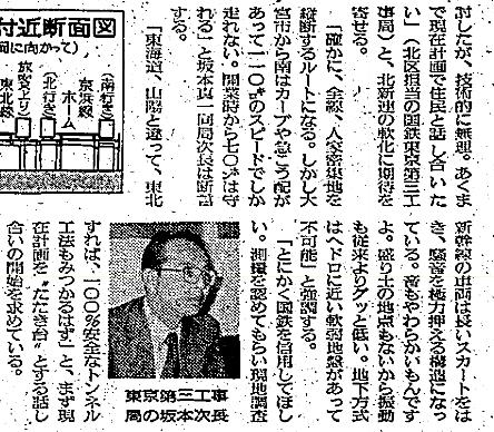 東北新幹線東京大宮間110キロ規制と線形 (1)