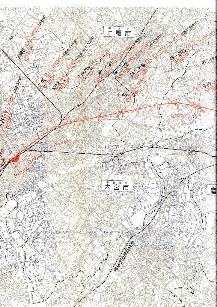 東北新幹線東京大宮間110キロ規制と線形 (16)