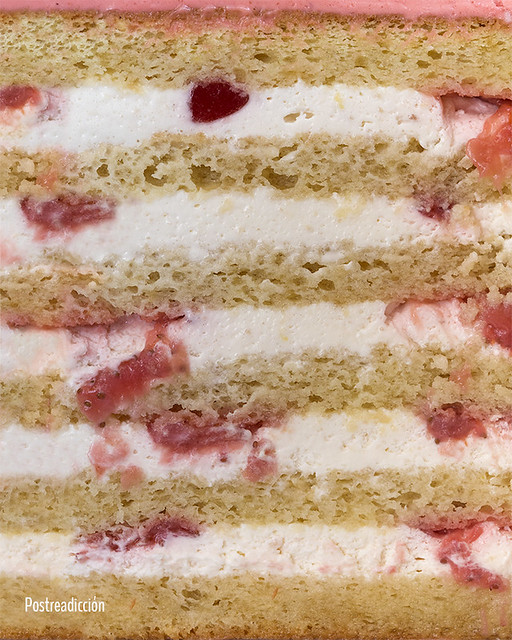 receta layer cake fresa