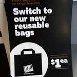 Well done Rebel Sport Hornby for offering customers an alternative with your reusable bags. Great for the gym.  #nzbagban, #reusablebags