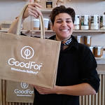 El at Good For store Christchurch is proud of their hessian reusable bags.  Plus they have lots of refillable goodies instore #nzbagban, #reusablebags
