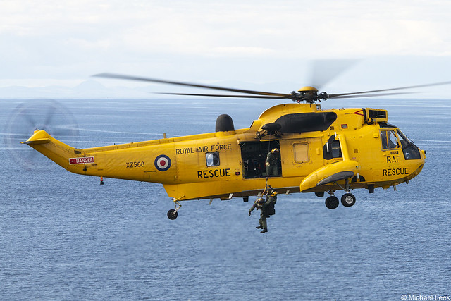 RAF SAR WS61 Sea King HAR3 XZ588/D; D Flight, 202 Squadron, RAF Lossiemouth, Moray, Scotland