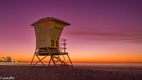 beach ka jolla la cove sunset strand lifeguard tower leica 28mm m10 summicron 31 california us usa