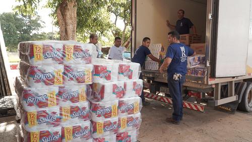 GDF recebe doações de supermercados, empresas e atacadistas