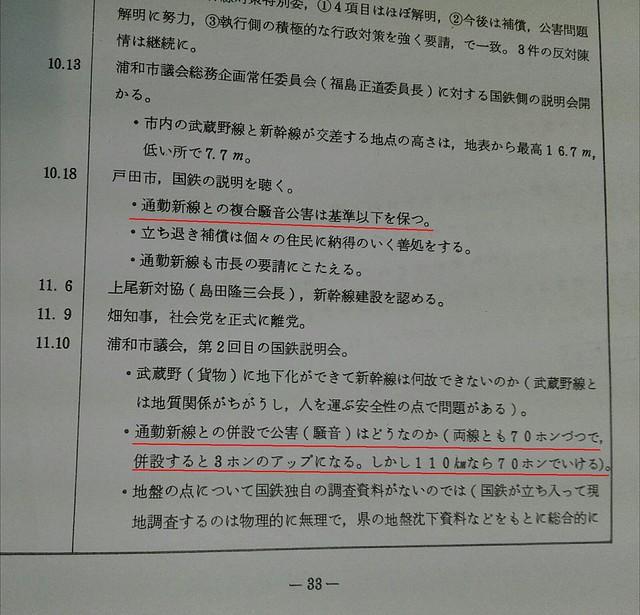 埼京線と東北新幹線の騒音