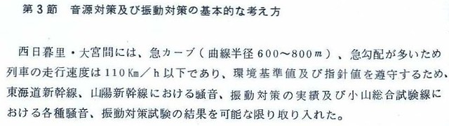 東北新幹線東京大宮間110キロ規制と線形 (2)