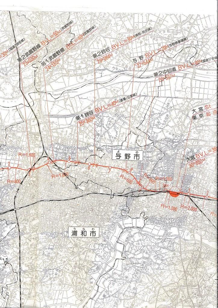 東北新幹線東京大宮間110キロ規制と線形 (15)