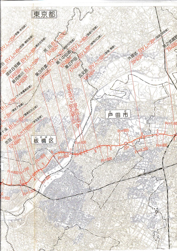 東北新幹線東京大宮間110キロ規制と線形 (13)